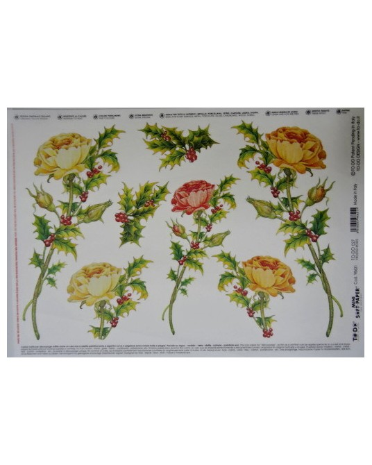 carta da decoupage soft cm 25x35 frosted roses
