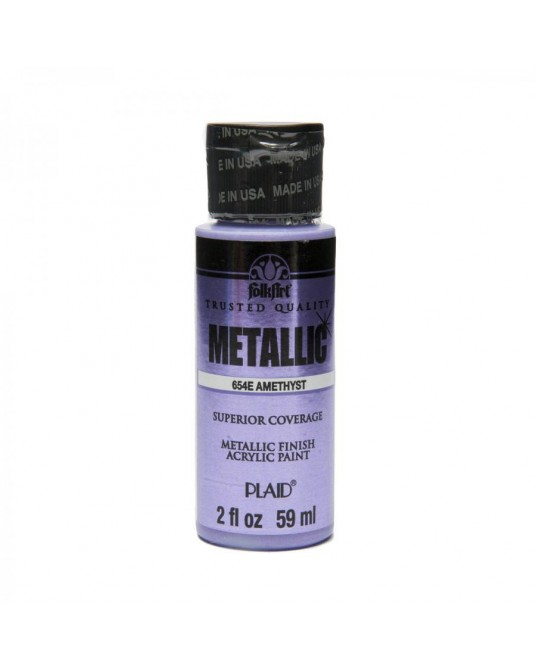 Ametista 59 ml colore acrilico metallizzato PLAID 654