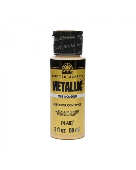 Oro Incas 59 ml colore acrilico metallizzato PLAID 676
