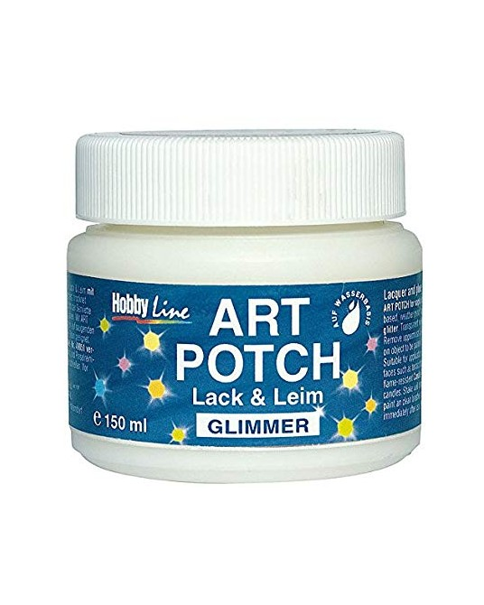 Colla per decoupage con glitter iridescenti 150 ml