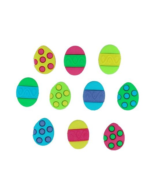 bottoni dress it painted eggs cm 1,5x2 pz 10