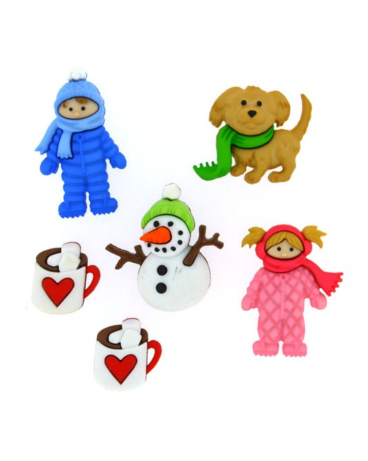 bottoni dress it up fun in the snow da cm 1,5a 3  6 pz
