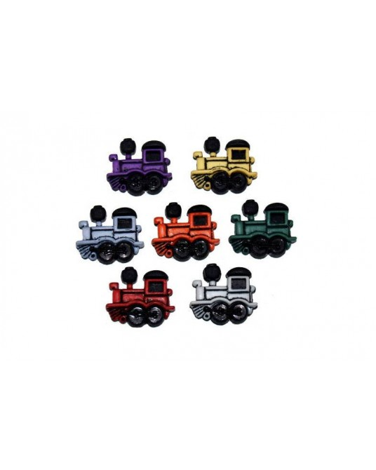 bottoni dress it up locomotive cm 2x1,5 7 pz