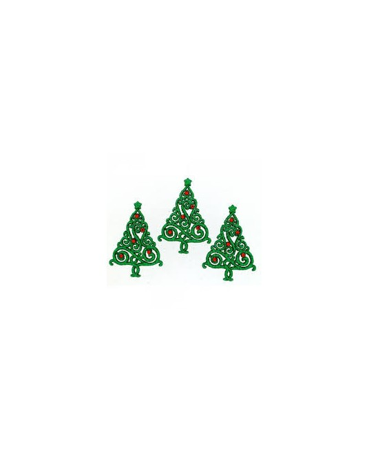 bottoni dress it up christmas elegance 3 pz cm 2x4