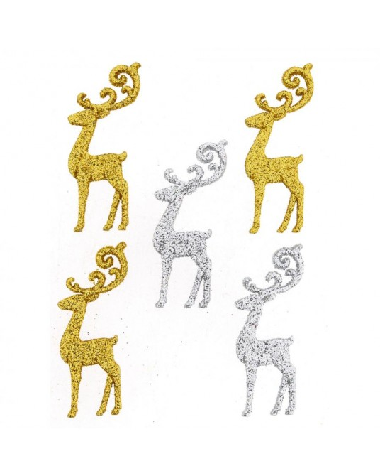 bottoni dress it up elegant reindeer 5 pz cm 2x4