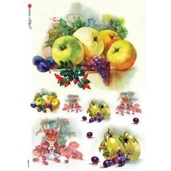 carta di riso per decoupage 30x42 frutta mista