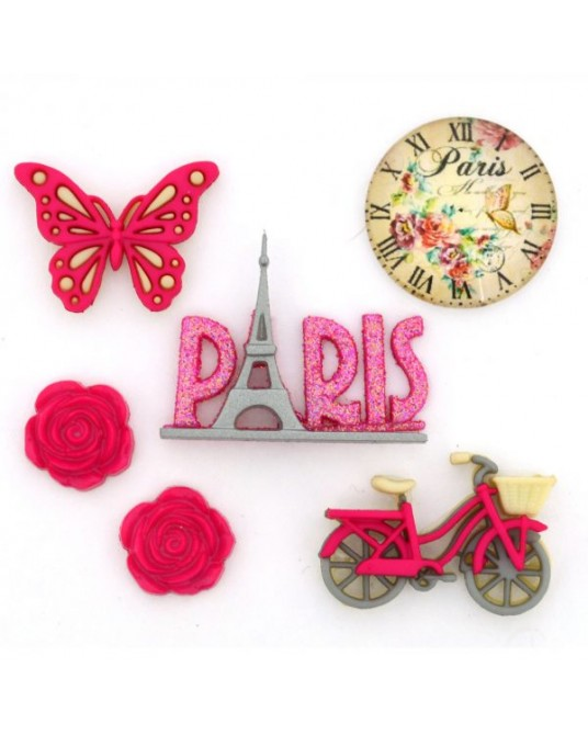 bottoni decorativi dress it up Paris 6 pz