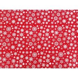 cm  30x40 pannolenci rosso con fiocchi bianchi