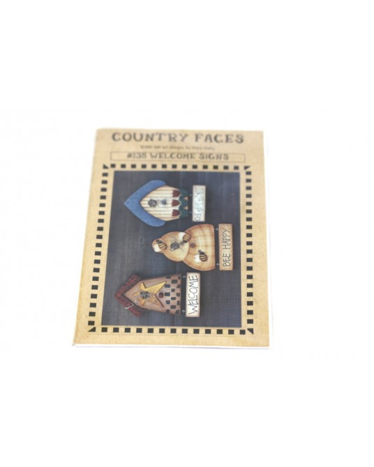 Cartamodello Country Faces #135 welcome signs pittura country