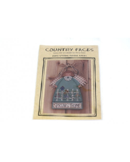 Cartamodello Country Faces #309 spring thyme angel pittura country