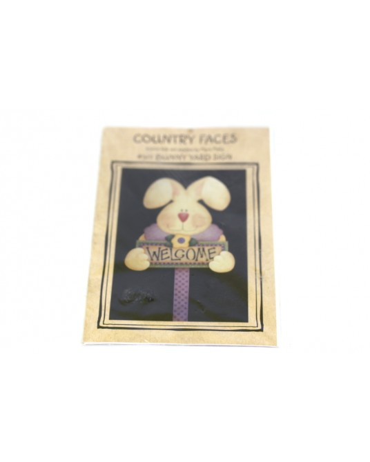 Cartamodello Country Faces #317 bunny yard sign pittura country