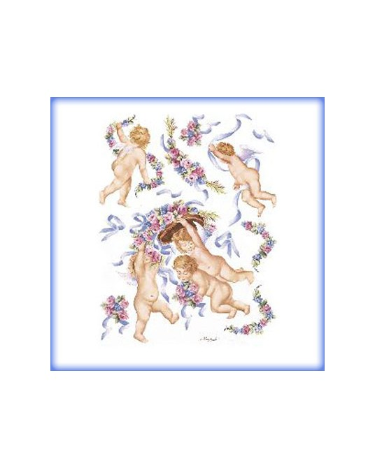 carta da decoupage cm 30x42 putti