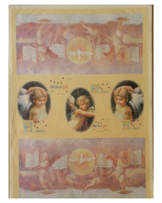 carta da decoupage cm 35x50 affresco angeli