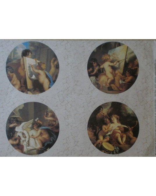 carta da decoupage cm 35x50 putti