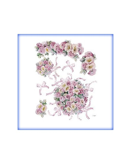 carta da decoupage cm 30x42 bouquet rose