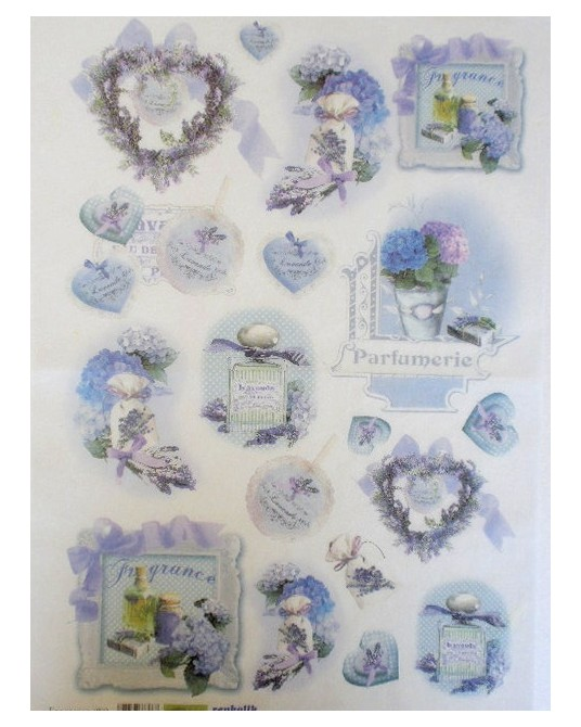 carta di riso per decoupage 35x50 fragrance