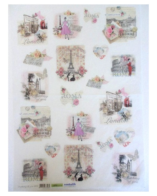 carta di riso per decoupage 35x50 thinking you