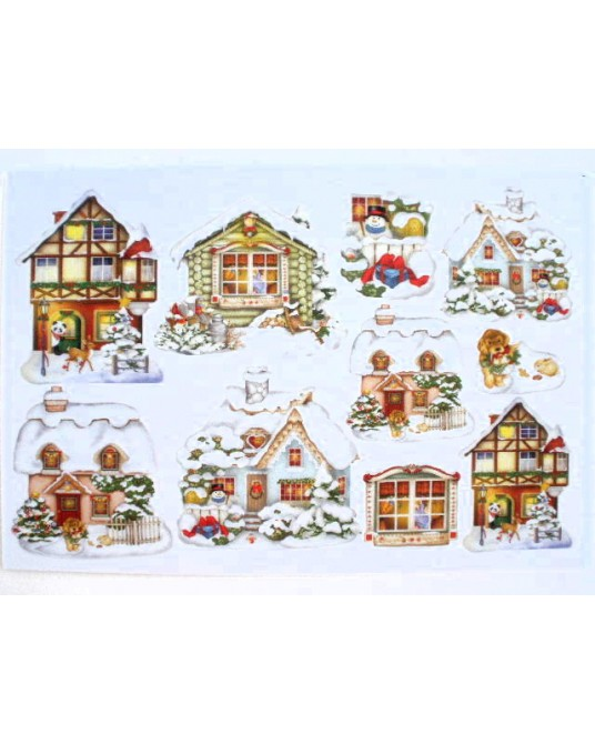 gomma crepla fommy 20x30 h 2 mm Christmas village