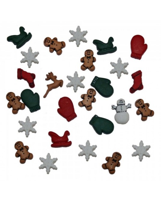 bottoni decorativi americani dress it up christmas miniatures