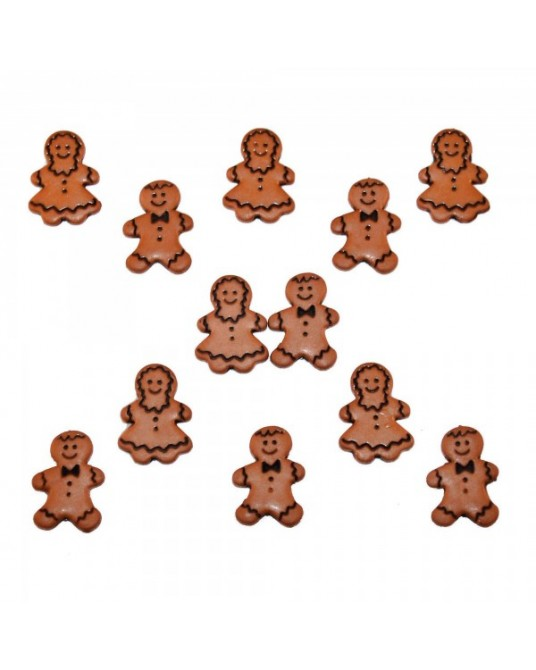 bottoni decorativi americani dress it up gingerbread people