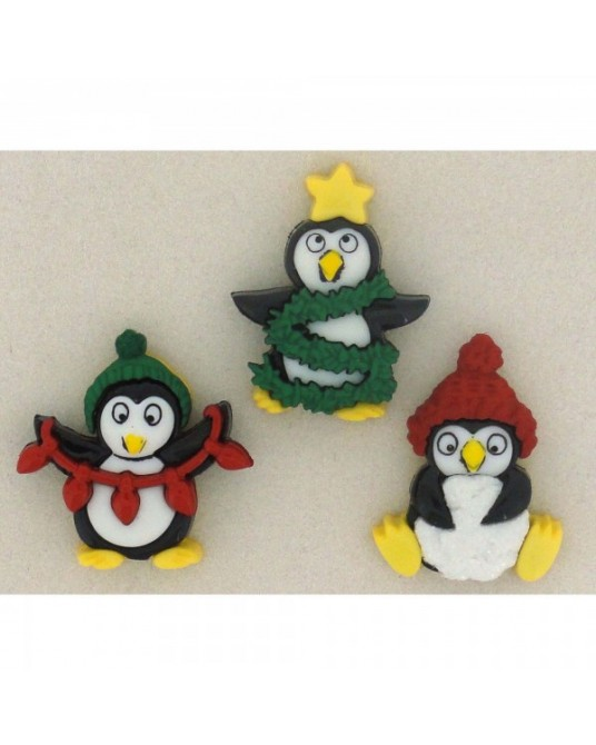 bottoni decorativi americani dress it up holiday penguins
