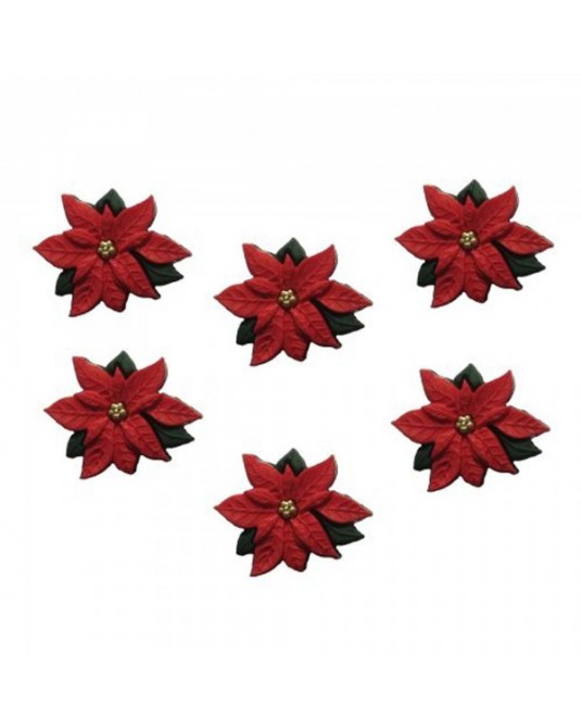 bottoni decorativi americani dress it up red poinsettias