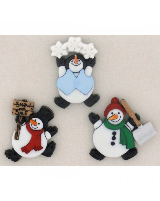 bottoni decorativi americani dress it up roly poly snowmen