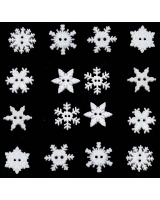 bottoni decorativi americani dress it up s/t snowflake