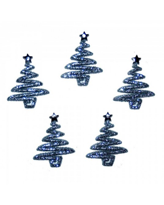 bottoni decorativi americani dress it up silver glitter trees