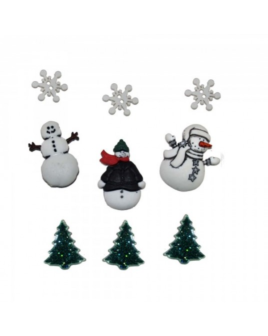 bottoni decorativi americani dress it up snowy friends