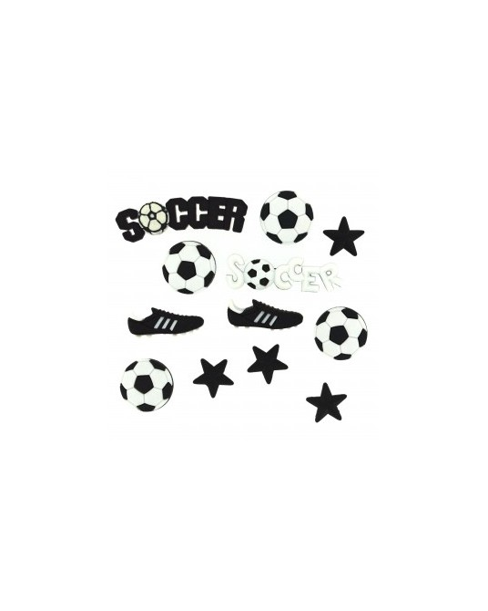 bottoni decorativi americani dress it up soccer da cm 1,5 a 2