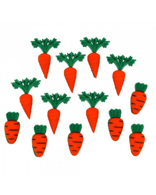 bottoni decorativi americani carrot crop cm 1x2 1x2,5