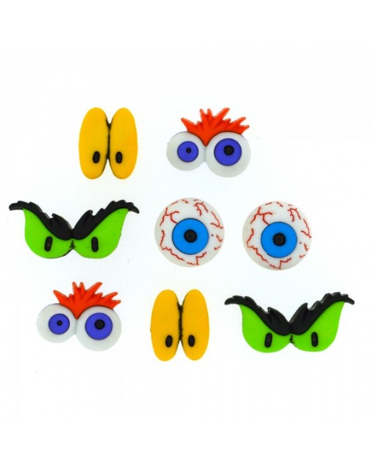 bottoni decorativi americani monster eyes