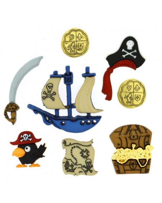 bottoni decorativi americani pirates da cm 1,5 a 3,5