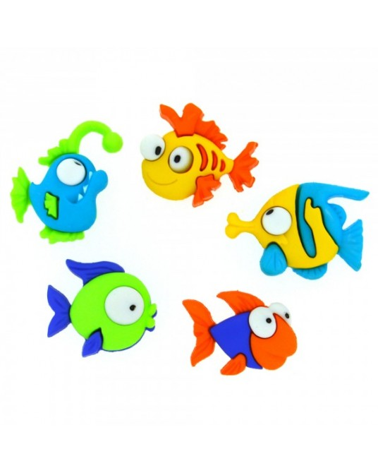 bottoni decorativi americani something fishy cm 3x2
