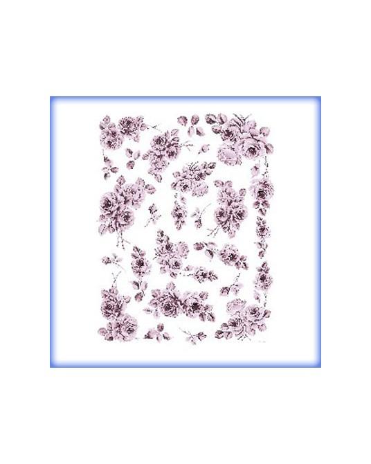 carta da decoupage cm 30x42 rose monocolore lilla piccoli
