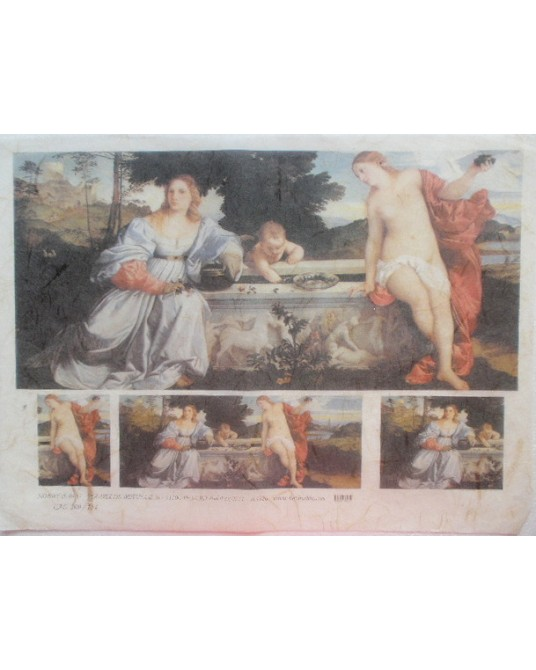 carta di riso per decoupage 30x42 affresco