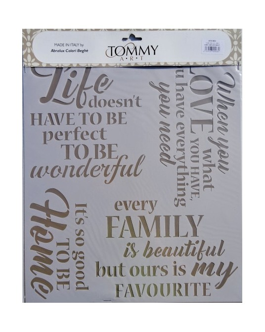 stencil home love life family cm 34x40